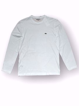 Billede af Lacoste Logo LS T-shirt Hvid